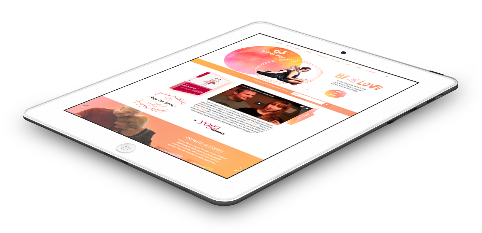 lovers-yoga-ipad - Case Study : Lovers' Yoga